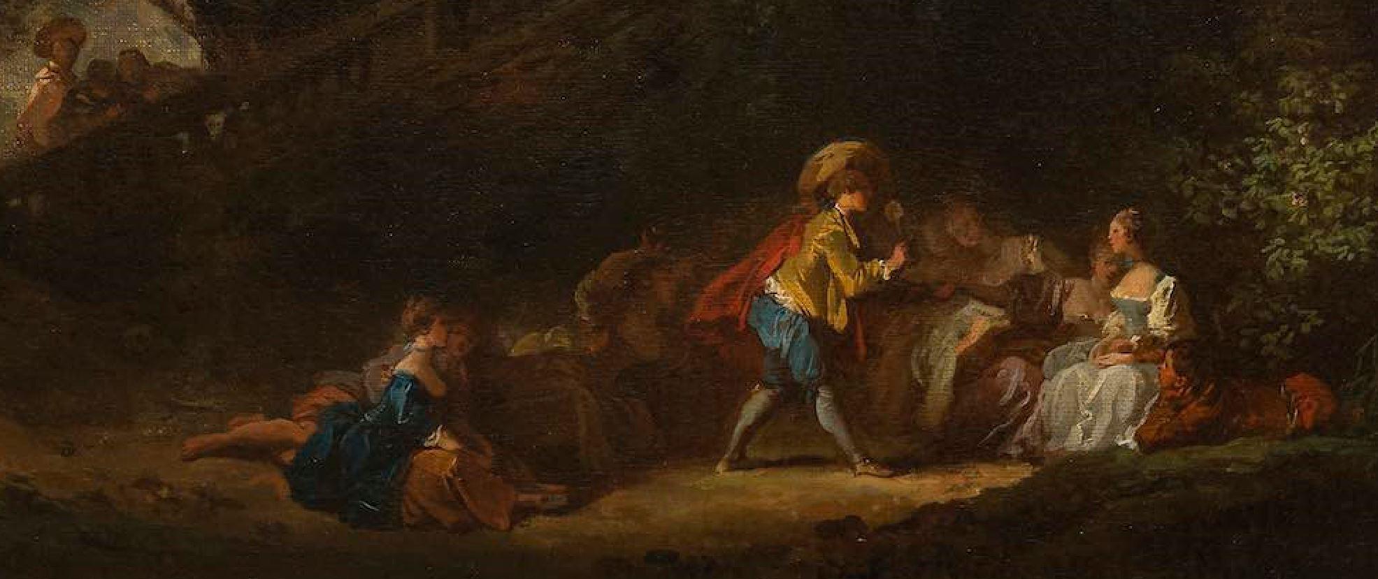 Fragonard 1761 ca Le jeu de la palette detail