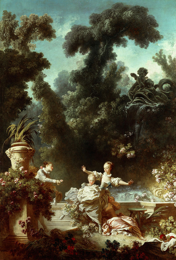 Fragonard 1771-72 The_Progress_of_Love 1 The_Pursuit Frick Collection
