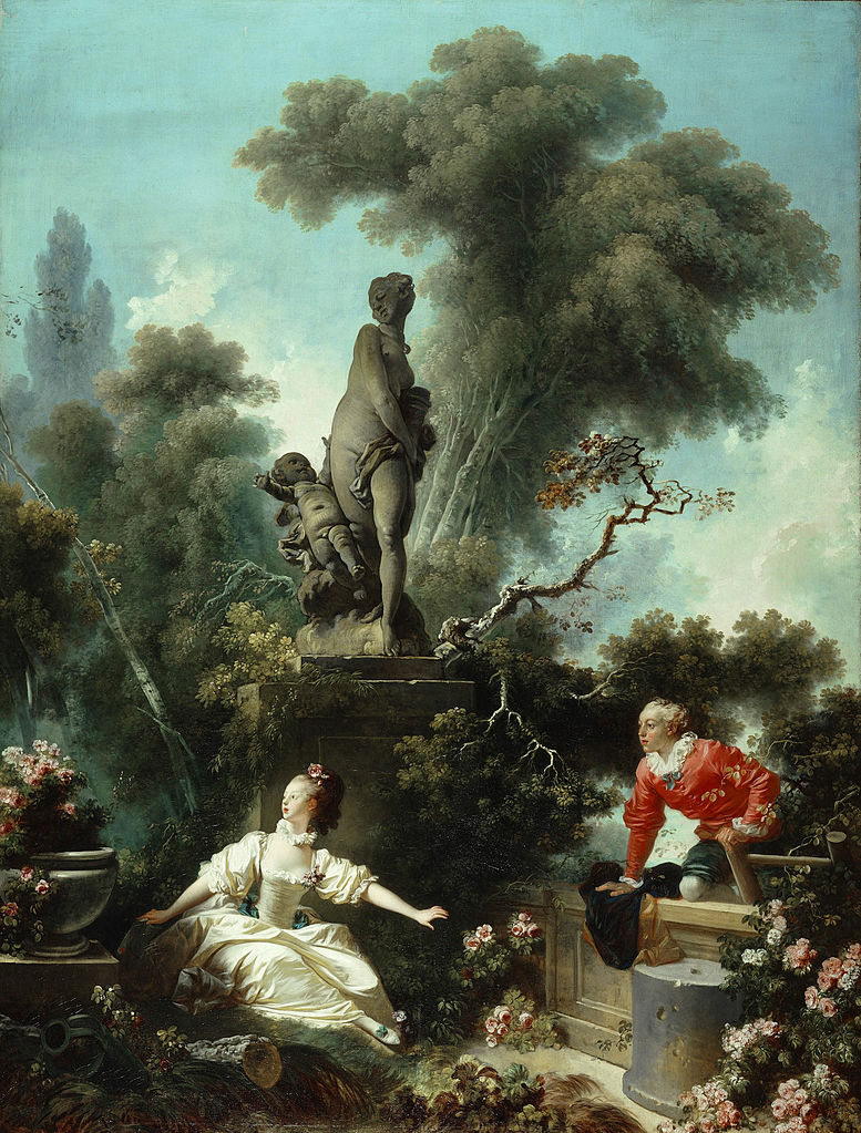 Fragonard 1771-72 The_Progress_of_Love 2 The_Meeting Frick Collection