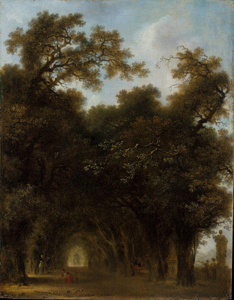 Fragonard 1775 Une allee ombragee MET 29 × 24 cm