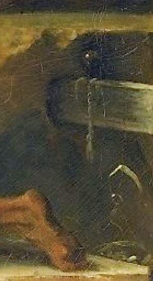 Fragonard 1775 adoration_des_bergers_Louvre 73 × 93 cm detail