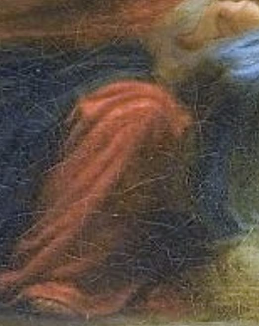 Fragonard 1775 adoration_des_bergers_Louvre 73 × 93 cm genou