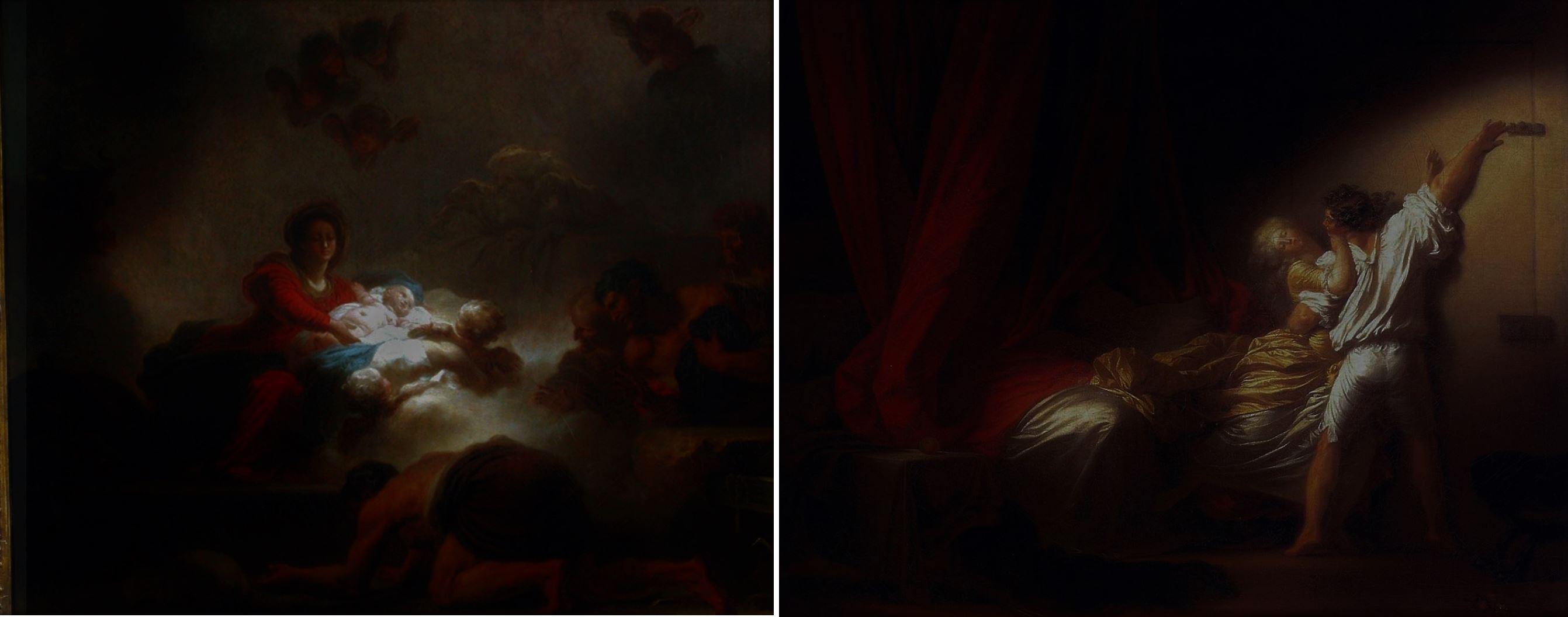 Fragonard 1775 adoration_des_bergers_Verrou schema 1