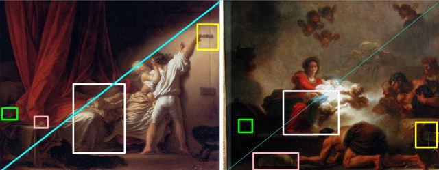 Fragonard 1775 adoration_des_bergers_Verrou schema 4
