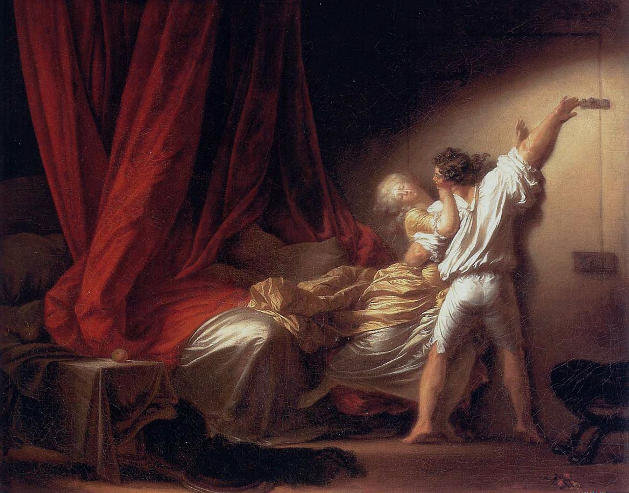 Fragonard 1777 Le verrou Louvre 73 × 93 cm