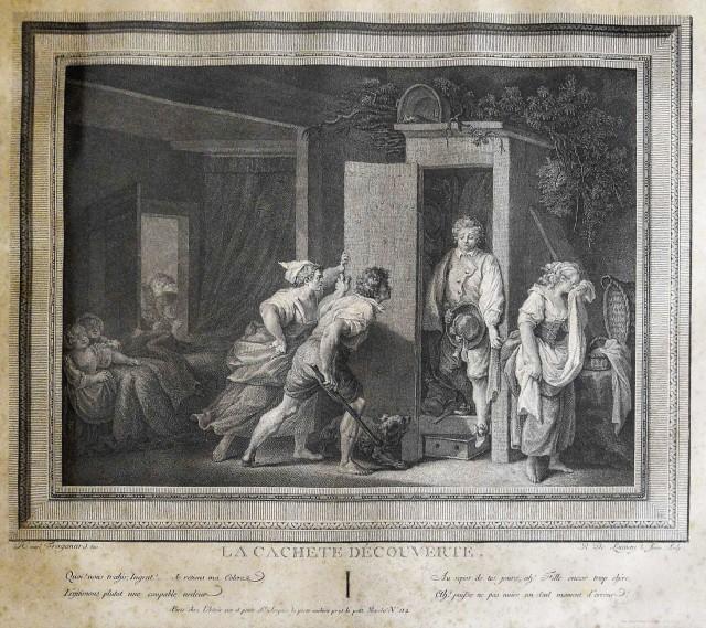 Fragonard 1778 L'Armoire Gravure de Fragonard