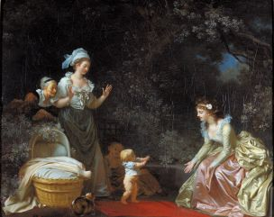 Fragonard 1780-85 Marguerite Gerard les premiers pas the first steps Harvard Art Museums, Cambridge
