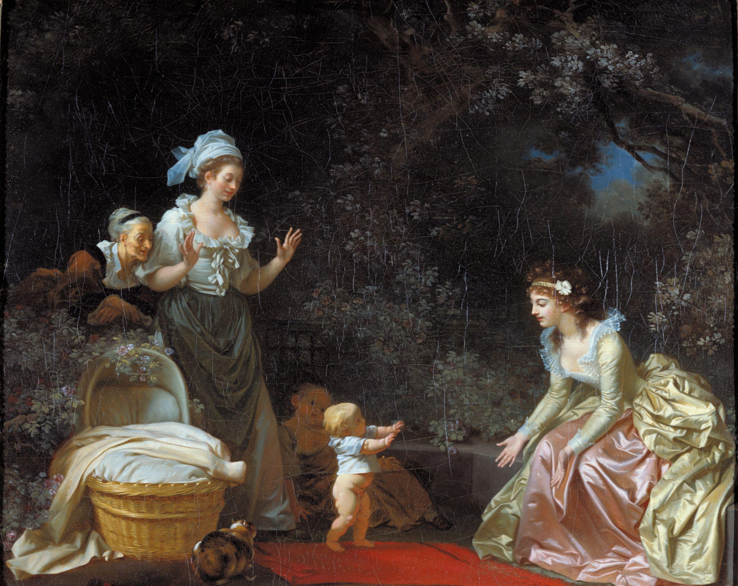 Fragonard 1780-85 Marguerite Gerard les premiers pas the first steps Harvard Art Museums, Cambridge