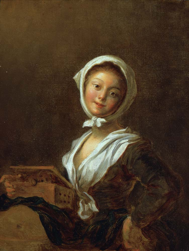 Fragonard-1780-Jeune-fille-a-la-marmotte-Portland-Art-Museum