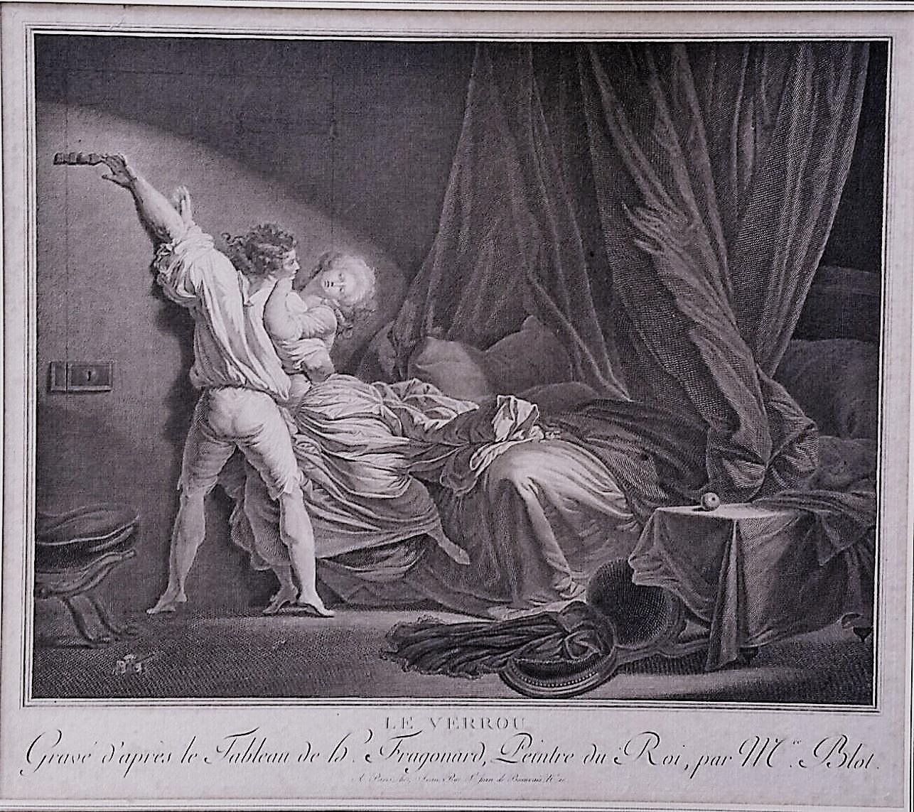 Fragonard 1784 Le Verrou Gravure de Blot