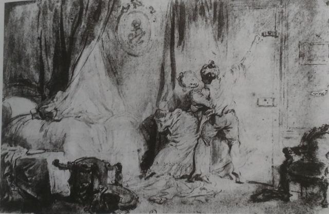 Fragonard Le verrou dessin preparatoire