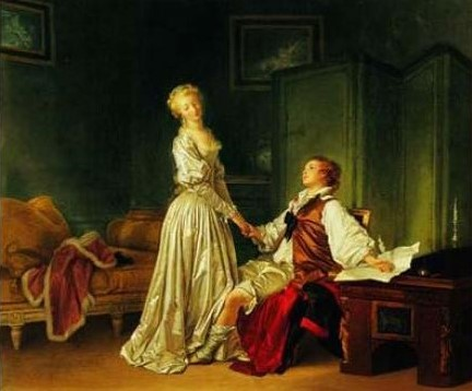 Fragonard et Marguerite Gerard LA PROMESSE DE MARIAGE (Le contrat) collection privee