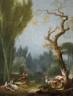 Fragonard le jeu du Cheval fondu