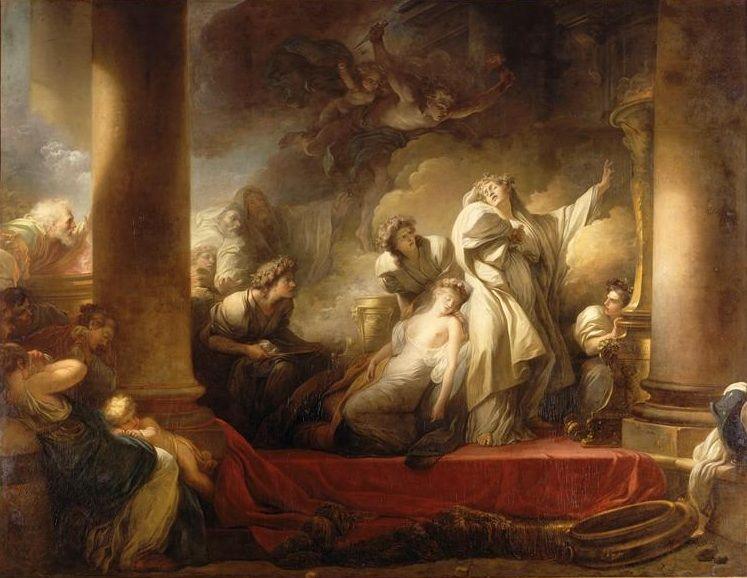 Fragonard. 1765 Coresus et Callirhoe Louvre.