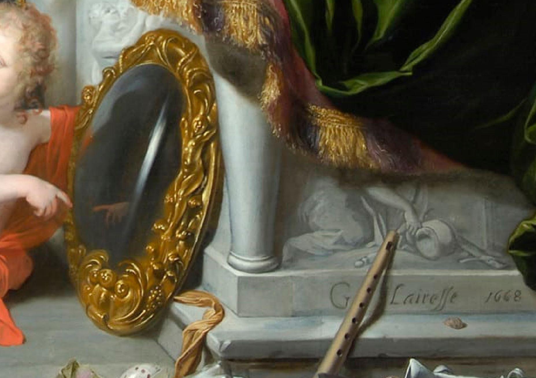 Lairesse 1668 Les cinq sens Glasgow museums detail mains