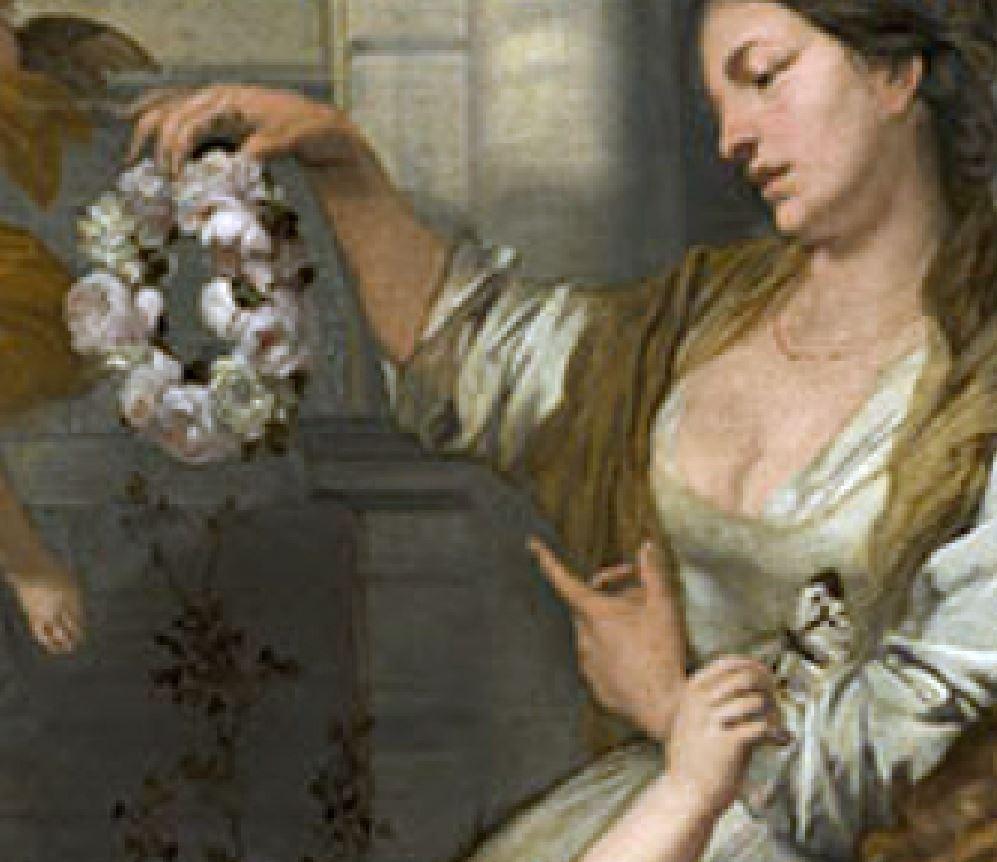 Lairesse 1668 ca Le printemps de la vie Museo Nacional de Bellas Artes La Havane detail doigts