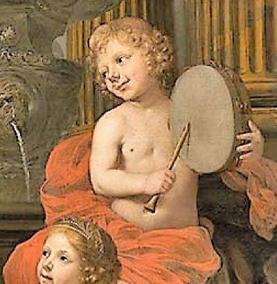 Lairesse 1668 ca Le printemps de la vie Museo Nacional de Bellas Artes La Havane detail tambourin