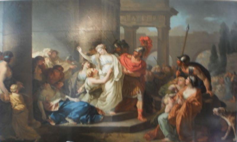 Menageot 1777 Le Sacrifice de Polyxene, les adieux de Polyxene à Hecube. Musee dese BA Chartres