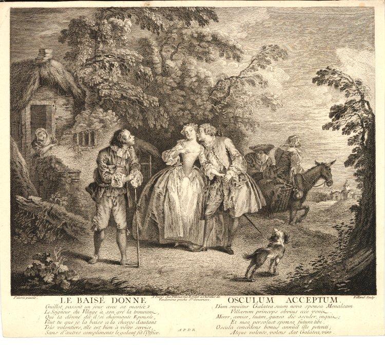 Pater 1733 ca Le baiser donne Bristish Museum