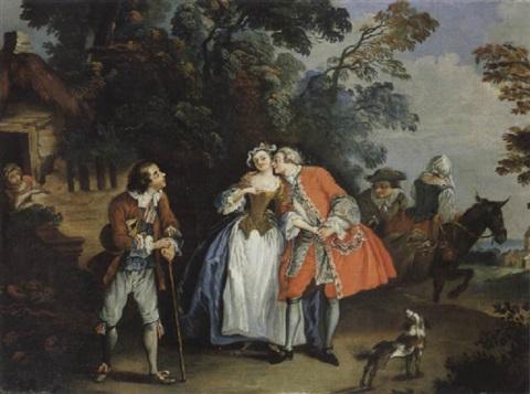 Pater 1733 ca Le baiser donne coll privee