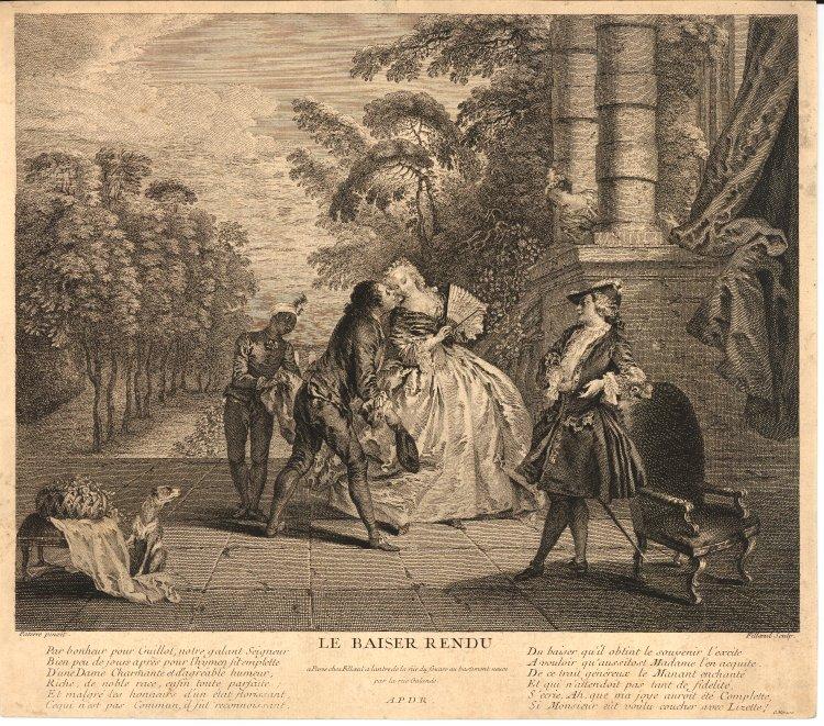 Pater 1733 ca Le baiser rendu Bristish Museum