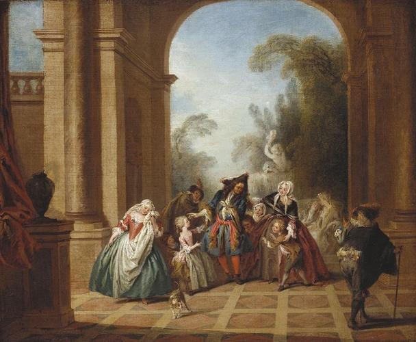 Pater A07a Monsieur de Pourceaugnac c. 1728-36 Buckingham Palace