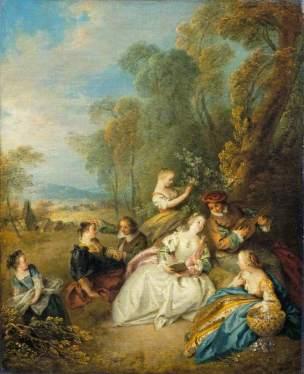 Pater, Jean-Baptiste, 1695-1736; A Concert (Le concert amoureux)