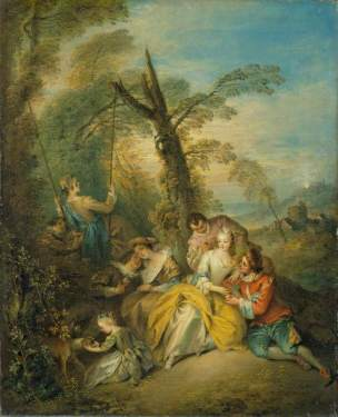 Pater, Jean-Baptiste, 1695-1736; The Swing (La conversation interessant)