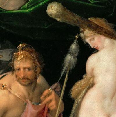 Spranger 1585 ca Hercule et Omphale Kusthistorisches Museum Wien detail