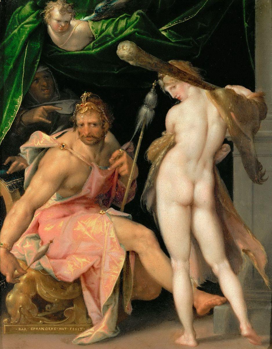 Spranger 1585 ca Hercule et Omphale Kusthistorisches Museum Wien