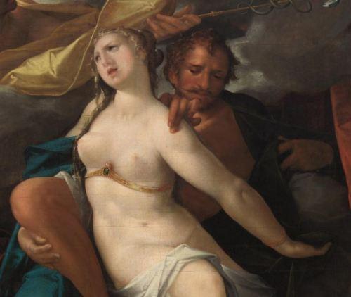 Spranger 1585 ca Venus et Mars avertis par Mercure Kusthistorisches Museum Wien detail
