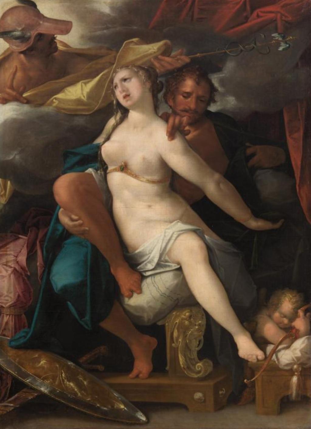 Spranger 1585 ca Venus et Mars avertis par Mercure Kusthistorisches Museum Wien