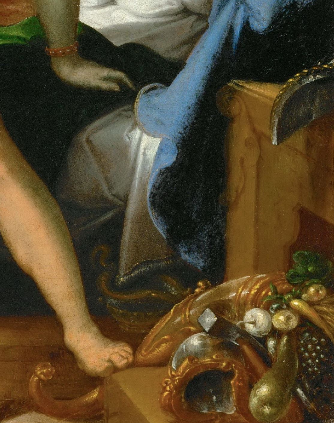 Spranger 1585 ca Vulcain et Maia Kusthistorisches Museum Wien detail objets