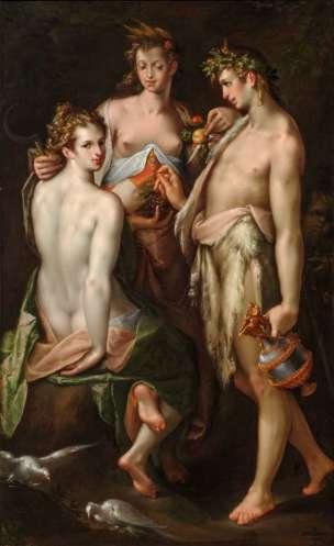 Spranger 1590 ca, Venus, Ceres, and Bacchus Landesmuseum Joanneum Graz