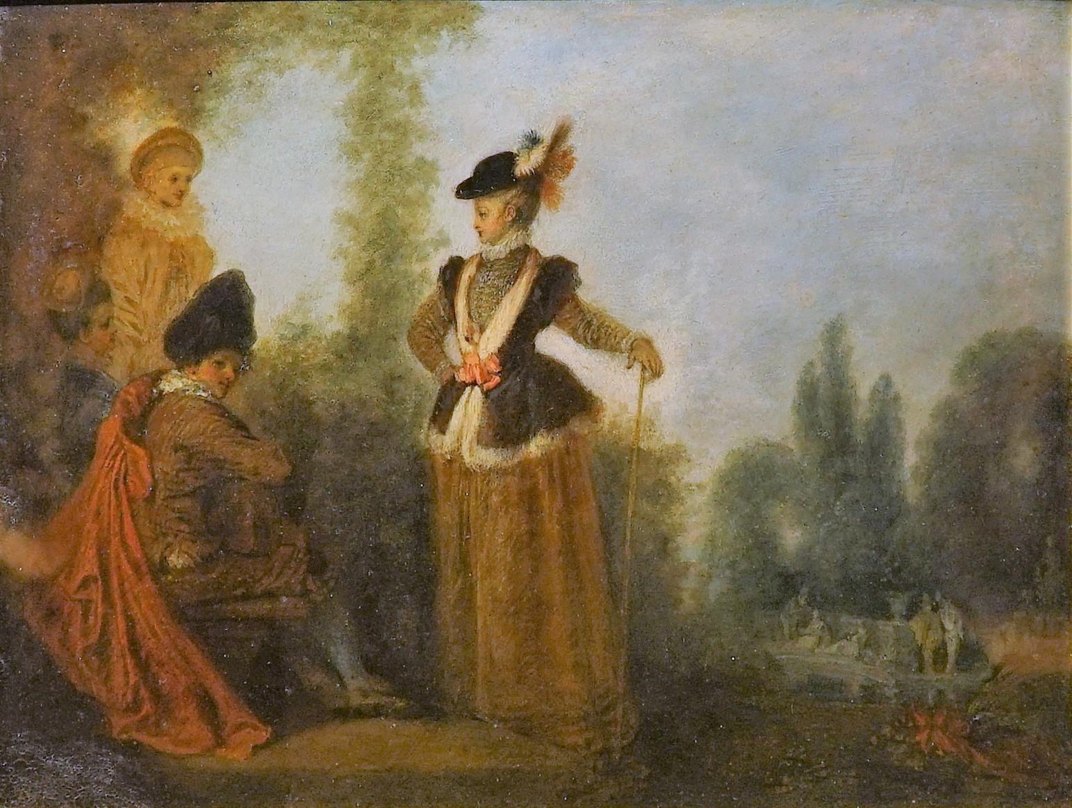 Watteau 1710-16 L'aventuriere Musee des Beaux Arts Troyes