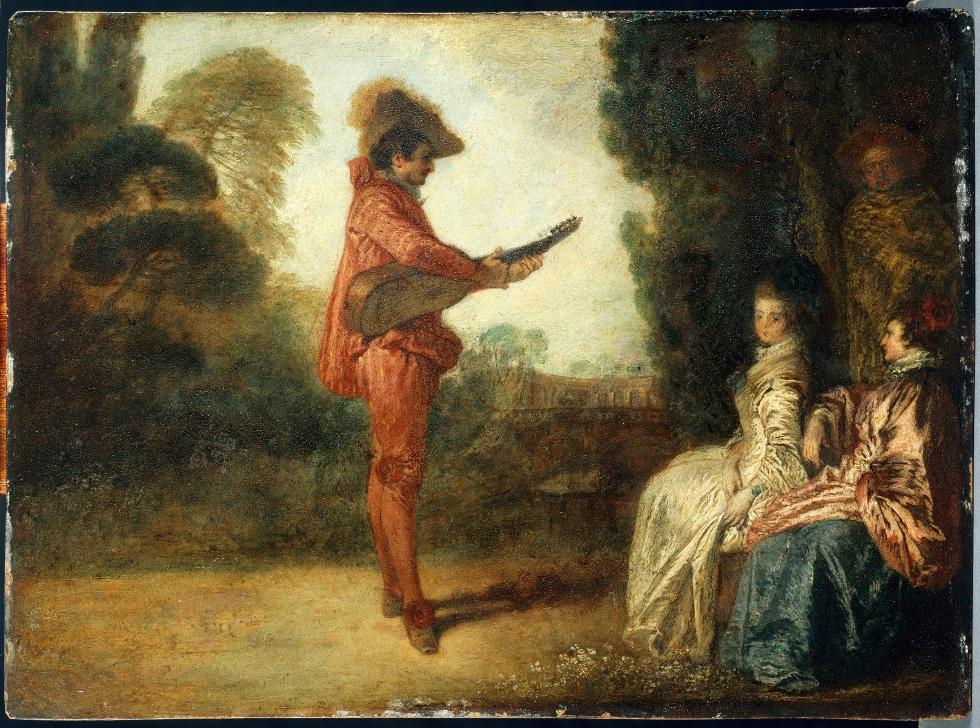 Watteau 1710-16 L'enchanteur Musee des Beaux Arts Troyes
