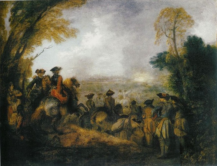 Watteau 1710 ca Le defile (The line of March) York Museums Trust