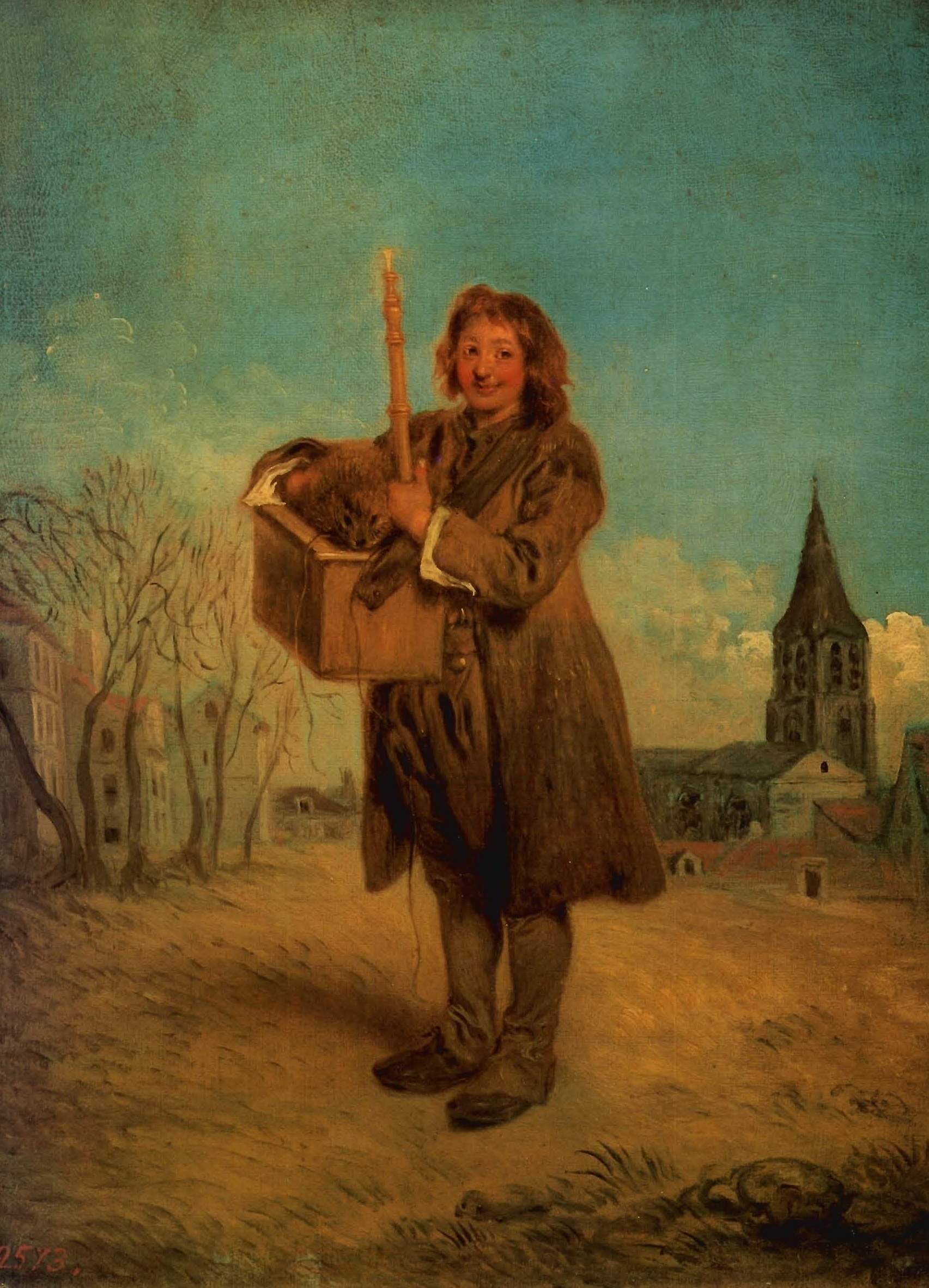 Watteau 1715-16 la marmotte Ermitage Saint Petersbourg