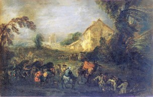 Watteau 1715 The Hardships of War Ermitage Museum, Saint Petersbourg