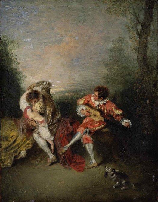 Watteau 1718 La surprise Collection privee