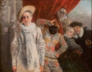 Watteau 1719, Arlequin, Pierrot et Scapin, Waddesdon Manor