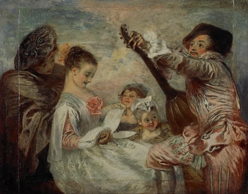 Watteau 1719, Pour nous prouver que cette belle, Wallace Collection, Londres
