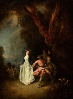 Watteau La danse paysanne Huntington library