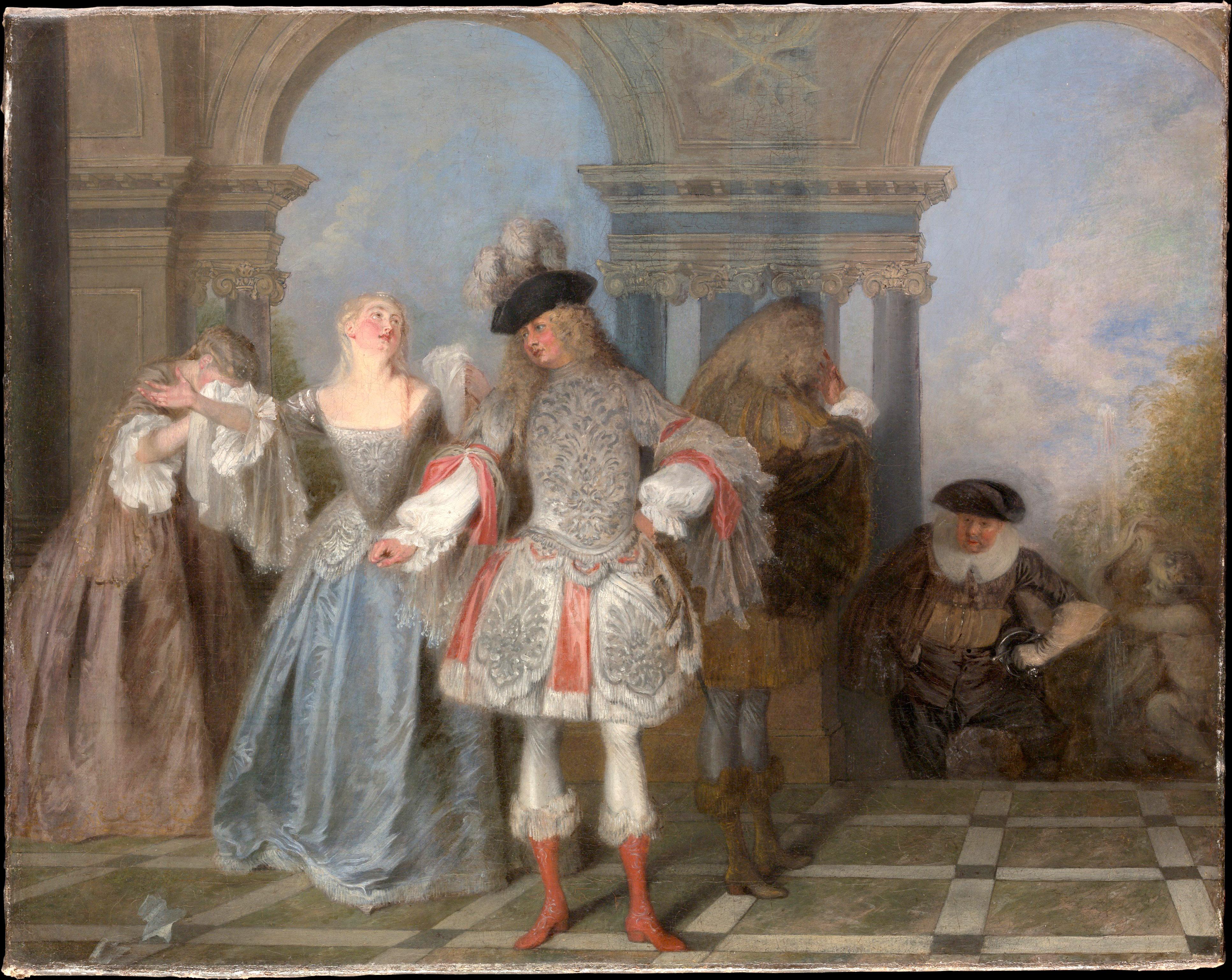 Watteau Les comediens francais met