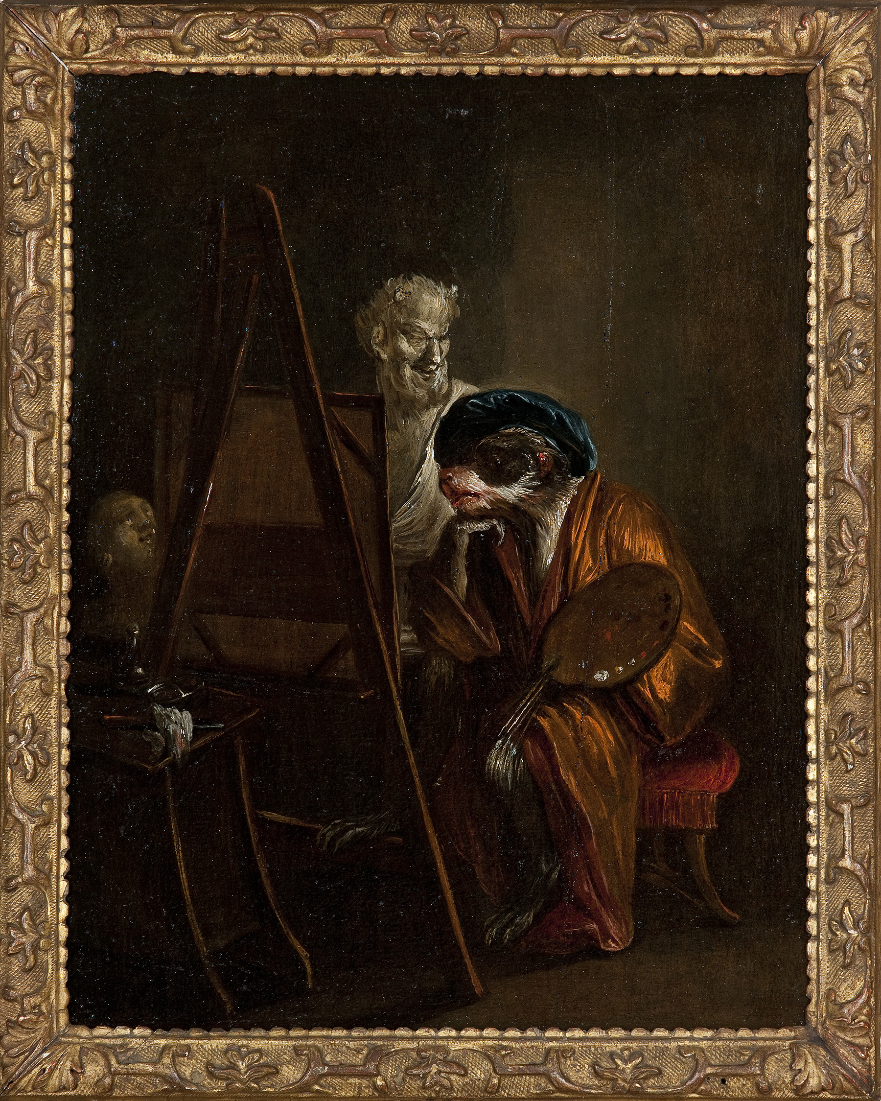 Watteau singe peintre musee arts decoratifs paris