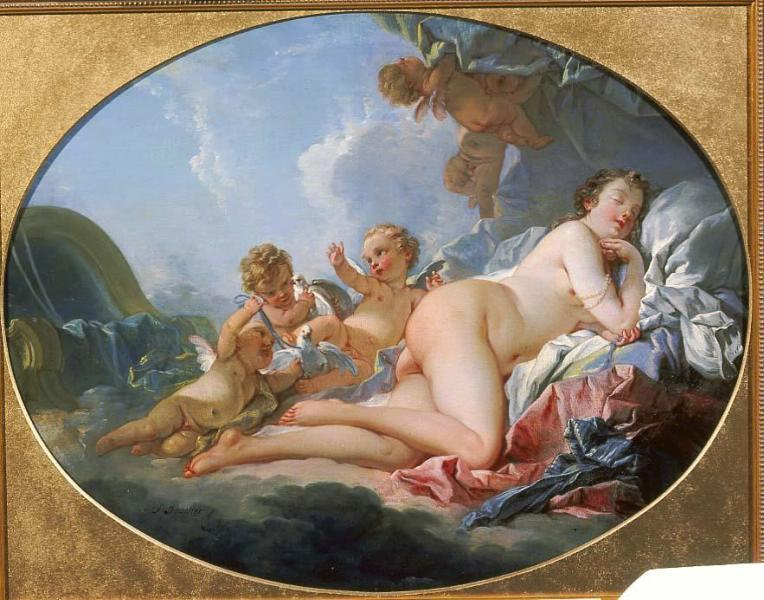 boucher Venus endormie Moscou, musee des Beaux-Arts Pouchkine
