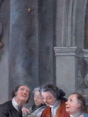 de Troy 1735 Le dejeuner d'huitres Musee Conde Chantilly photo J L Mazieres detail bouchon