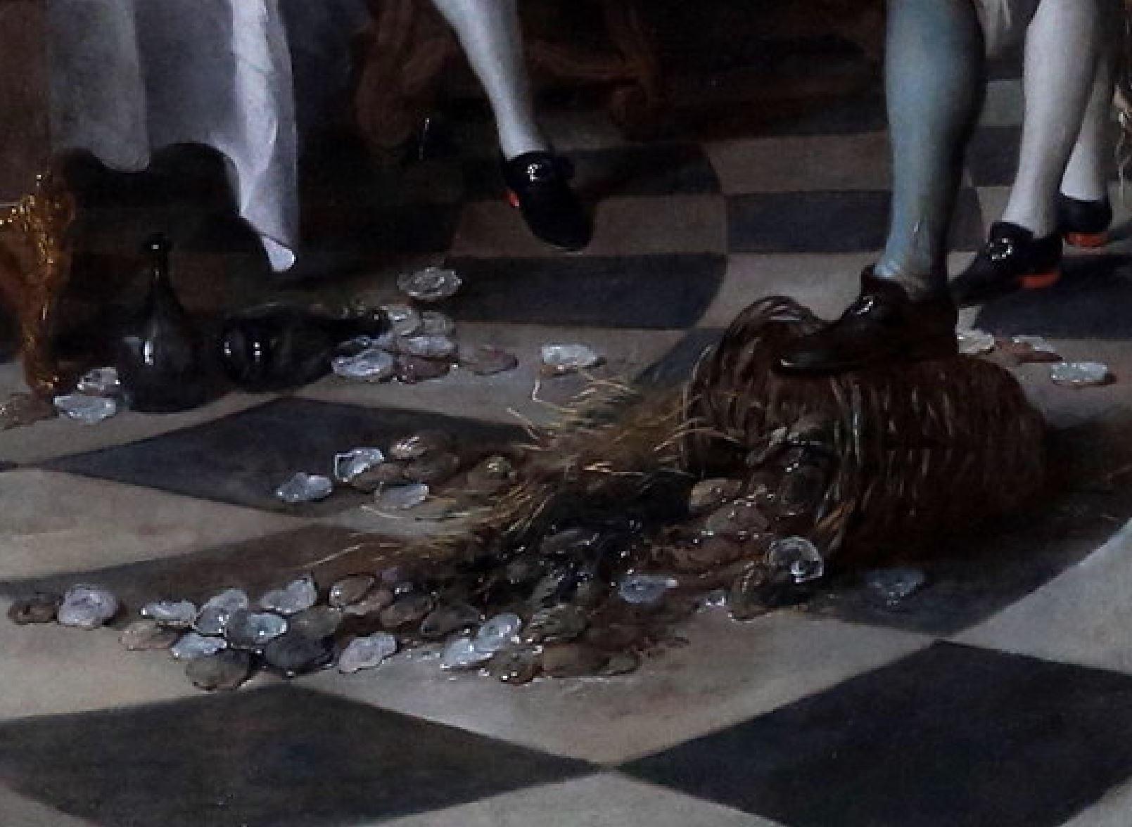 de Troy 1735 Le dejeuner d'huitres Musee Conde Chantilly photo J L Mazieres detail panier