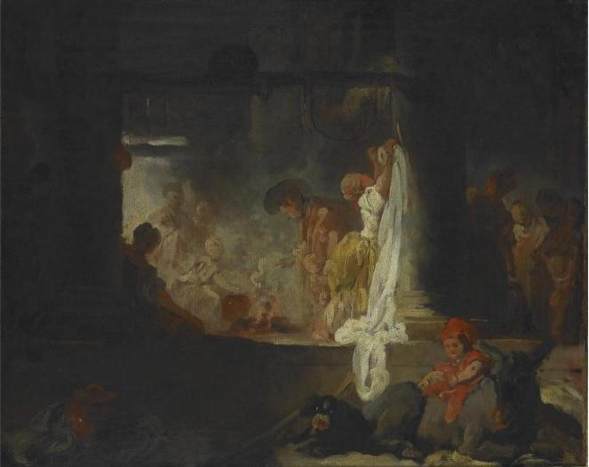 fragonard Les blanchisseuses (L'etendage) 1756-61 Musee des Beaux Arts Rouen