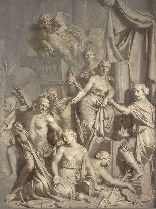 lairesse 1689 Allegorie de la Chute de Rome Museum Boijmans Van Beuningen Rotterdam
